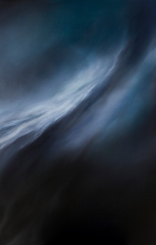 Night solace I, 2014, (70x110) Oil on Canvas. [sold, Private collection Hunter Valley]